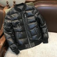 YR! Бесплатная доставка. Распродажа, Классическая куртка из натуральной кожи в повседневном стиле. 80% белый утиный пух, пальто из овчины. Зимняя теплая кожаная куртка-in Пальто из натуральной кожи from Мужская одежда on AliExpress