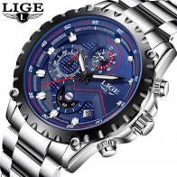 US $22.99 90% OFF|LIGE Watch Men Fashion Sport Quartz Clock Mens Watches Top Brand Luxury Full Steel Business Waterproof Watch Relogio Masculino-in Quartz Watches from Watches on Aliexpress.com | Alibaba Group
