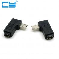 71.96 руб. 8% СКИДКА|9 мм Длинный разъем 90 градусов левый и правый угловой Micro USB 5Pin штекер к Mini USB Женский удлинитель адаптер Разъемы on Aliexpress.com | Alibaba Group