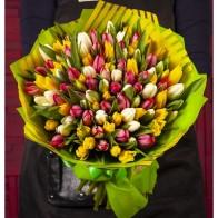 """Доставка цветовРоссияМоскваБукет-трио """"Балет весны"""" (25,51,75 или 101) - Цветы и Шары"""
