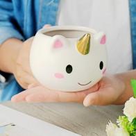 US $8.36 31% OFF|Unicorn Mug 300ml Rainbow Horse Unicorn Mugs Cup Cuteness 3D Unicorn Ceramic Coffee Mug Gold Stereo Cute Unicorn Cups-in Mugs from Home & Garden on Aliexpress.com | Alibaba Group