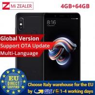 12539.0 руб. |Глобальная версия Оригинальный Xiaomi Redmi Note 5 4 ГБ 64 ГБ мобильный Смартфон Snapdragon 636 Octa Core 2160x1080 5,99 дюймов 4000 мАч купить на AliExpress