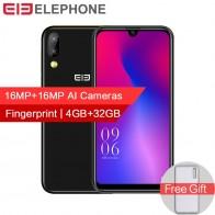 6276.84 руб. 20% СКИДКА|Elephone A6 mini, 4 Гб оперативной памяти, 32 Гб встроенной памяти, мобильный телефон Android 9,0 5,71