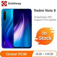 Смартфон Xiaomi Redmi Note 8 с глобальной прошивкой, 4 ГБ, 64 ГБ, Восьмиядерный процессор Snapdragon 665, камера заднего вида 48 МП, экран 6,3 дюйма, 4000 мАч-in Мобильные телефоны from Мобильные телефоны и телекоммуникации on AliExpress