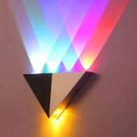 5 Вт алюминий треугольсветодио дный Ники светодиодный настенный светильник AC90 265V высокое светодио дный мощность современный дом освещение Крытый Открытый Вечерние купить на AliExpress