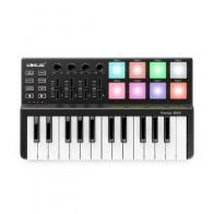 Panda MINI 25-Key ультра-портативный USB MIDI контроллер клавиатуры 8 красочных триггерные подушки с подсветкой
