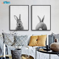 US $2.59 53% OFF|Scandinavian Poster Print Kids Rabbit Black And White Animal Wall Art Canvas Painting Nursery Bunny Nordic Wall Decor Pictures-in Painting & Calligraphy from Home & Garden on Aliexpress.com | Alibaba Group