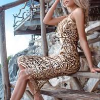 2235.27 руб. |Высокое качество золото скольжения Мода по колено платье для ночного клуба вечерние платья-in Платья from Женская одежда on Aliexpress.com | Alibaba Group