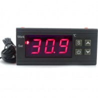 US $7.62 33% OFF|Digital Temperature Controller 90 250V 10A 220V Thermostat Regulator with Sensor Heating Cooling Control C/F Model Optional-in Temperature Instruments from Tools on Aliexpress.com | Alibaba Group