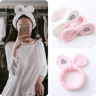 112.52 руб. 25% СКИДКА|New Fashion Women Cute Big Ears Comfortable Wash Face Bathe Hair Holder Elastic Headband Girls Hairbands Hair Accessories-in Женские аксессуары для волос from Одежда аксессуары on Aliexpress.com | Alibaba Group