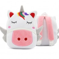 US $5.88 35% OFF|Children School Backpack Cartoon Rainbow Unicorn Design Soft Plush Material For Toddler Baby Girls Kindergarten Kids School Bags-in School Bags from Luggage & Bags on Aliexpress.com | Alibaba Group