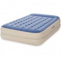 """Intex Queen 18"""" Dura-Beam Standard Raised Pillow Rest Airbed Mattress - Walmart.com"""