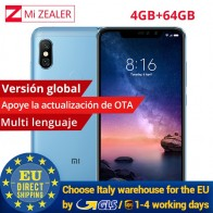 "US $193.98 |Global versie Xiaomi Redmi Note 6 Pro 4 GB 64 GB Snapdragon 636 Octa Core 4000 mAh 6.26 ""19:9 full Screen 12MP + 5MP Dual Camera in Global versie Xiaomi Redmi Note 6 Pro 4 GB 64 GB Snapdragon 636 Octa Core 4000 mAh 6.26 ""19:9 full Screen 12MP + 5MP Dual Camera van Mobiele Telefoons op AliExpress.com 