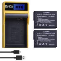2 шт. 1400 мАч DMW-BLC12 DMW BLC12 BLC12E батарея + ЖК-Зарядное устройство USB для камеры Panasonic FZ1000 FZ200 FZ300 G5 G6 G7 GH2 BLC12