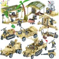 € 15.35 38% de DESCUENTO|400 + piezas WW2 campamento militar camiones, Jeeps bloques Compatible legoing soldados del ejército del arma de ladrillos juguetes para los niños en Blocs de Juguetes y aficiones en AliExpress.com | Alibaba Group