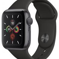 Купить Часы Apple Watch Series 5 GPS 44mm Aluminum Case with Sport Band серый космос/черный по низкой цене с доставкой из маркетплейса Беру
