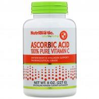 NutriBiotic, Аскорбиновая кислота, 100 % чистый витамин С, кристаллический порошок, 227 г (8 унций) - Vitaminas para la inmunidad