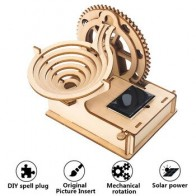 Паровая наука образовательный набор 3D деревянный мрамор бег мяч на солнечных батареях Сделай Сам строительство сборка механическое снаряж... - Небанальные подарки