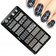 US $0.89 21% OFF|1 x Geometry Pattern Nail Stamping Plates Stainless Steel Nail Art Stamp Template Stencils Manicure Nail Tools BEXYJ08-in Nail Art Templates from Beauty & Health on Aliexpress.com | Alibaba Group
