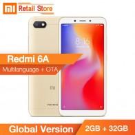 US $93.49 |النسخة العالمية Xiaomi Redmi 6A 2 GB 32 GB هيليو A22 رباعية النواة 5.45