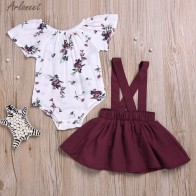 US $5.48 36% OFF|ARLONEET 2Pcs Infant Baby Girls Floral Print Rompers Jumpsuit Strap Outfits Set Sleeve Cute Suit Jan10-in Clothing Sets from Mother & Kids on Aliexpress.com | Alibaba Group