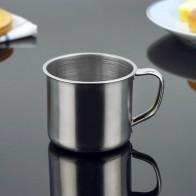 56.31руб. 20% СКИДКА|1 шт., новинка, 100 мл, нержавеющая сталь, портативная кружка, серебряная чашка, настенный стакан для путешествий, кружка для кофе, молока, чая, чашка для офиса-in Кружки from Дом и животные on AliExpress - 11.11_Double 11_Singles
