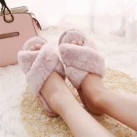 384.87 руб. 58% СКИДКА|COOTELILI/зимние женские домашние тапочки с искусственным мехом, модная теплая обувь, женские слипоны на плоской подошве, женские шлепанцы черного и розового цвета, большой размер 41-in Тапочки from Туфли on Aliexpress.com | Alibaba Group