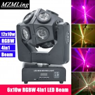 US $136.74 14% OFF|12x10w RGBW 4in1 LED Beam Light Football Light DMX512 Football Moving Head Light Professional DJ /Bar /Party /Show /Stage Light-in Stage Lighting Effect from Lights & Lighting on Aliexpress.com | Alibaba Group