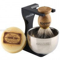 US $18.39 20% OFF|Anbbas Barber Shaving Brush Badger Hair+Black Acrylic Stand+bowl+Soap Set-in Shaving Brush from Beauty & Health on AliExpress - 11.11_Double 11_Singles