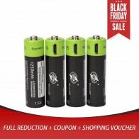 592.23 руб. 27% СКИДКА|4 шт. ZNTER ZNT5 1 BR В AA 1,5 в 1250 мАч USB перезаряжаемые литий полимерный батарея быстрой зарядки Micro USB кабель для электроники купить на AliExpress