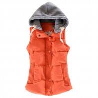 US $14.95 44% OFF|Wipalo 2019 New Autumn Winter Solid Women Plus Size Slim Vest Cotton Parkas Jacket Sleeveless Hooded Casual Colete Jacket M 6XL-in Vests & Waistcoats from Women