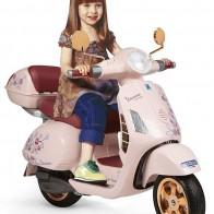 Детский электромотоцикл Peg Perego Vespa Mon Amour MC0024 - Детские электромобили
