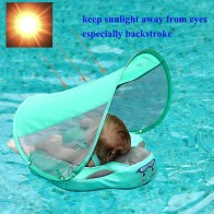 UPF 50 Mambo baby swim float swimming ring UV protection baby floating with canopy no need Inflatable neck Floats Swim Trainer-in Accessories from Mother & Kids on AliExpress