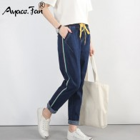 1080.16 руб. 5% СКИДКА|Большие размеры 5XL 2019 Осенние новые синие шаровары Винтажные эластичные джинсы с высокой талией женские длинные брюки свободные ковбойские брюки-in Джинсы from Женская одежда on Aliexpress.com | Alibaba Group
