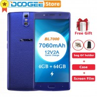 6540.73 руб. |Doogee bl7000 4 ГБ Оперативная память 64 ГБ Встроенная память Android 7.0 MTK6750T Восьмиядерный 1.5 ГГц 5.5