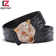 € 15.25 47% de réduction|Destin luxe hommes ceinture célèbre marque Designer ceintures mâle en cuir véritable sangle taille mode Crocodile or loup mariage diamant-in Ceintures et Cummerbunds from Vêtements Accessoires on Aliexpress.com | Alibaba Group