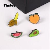 Бесплатная доставка, Милая брошь в виде фруктов, банана, персика, авокадо, арбуза, булавки 1,3-2,2 см, ювелирные изделия, оптовая продажа - Аксессуары до 300 руб