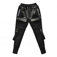 1176.8 руб. 45% СКИДКА|2019 новые модные спортивные штаны в стиле хип хоп для мужчин, черные мужские шаровары для бега, многокарманные брюки карандаш для бега-in Узкие брюки from Мужская одежда on Aliexpress.com | Alibaba Group