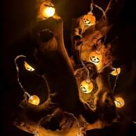 Лампочная гирлянда и 10шт лампа в форме тыквы Хэллоуин - Декор для Хэллоуина