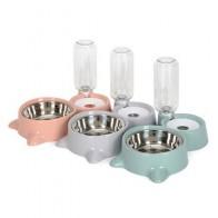 Миски для кормления домашних животных, автоматический фонтан для питьевой воды и кормушка из нержавеющей стали для собак и кошек, домашние ... - Кормушки для питомцев