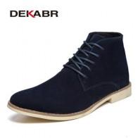 Мужские модные ботинки-челси до щиколотки DEKABR, черные брендовые удобные классические ботинки на каждый день, рабочая обувь, весна-осень 2019 - Мужская обувь