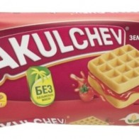 Купить Вафли венские Akulchev Земляника 100 г по низкой цене с доставкой из маркетплейса Беру