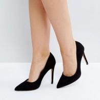 Черные туфли-лодочки на высоком каблуке с заостренным носком ASOS DESIGN Paris