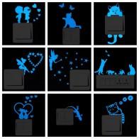 42.51 руб. 50% СКИДКА|Синим светом светящиеся Стикеры для выключателей мультяшное украшение для дома светящийся настенный Стикеры s темно светящееся украшение Стикеры кошка пижамы для малыша/Фея/луны и звезд ..-in Настенные наклейки from Дом и сад on Aliexpress.com | Alibaba Group
