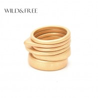 Wild & Free Hot 6pcs Vintage Gold Ring Set For Women Fashion Geometric Plain Knuckle Ring Stackable Rings Jewelry Christmas Gift-in Rings from Jewelry & Accessories on AliExpress