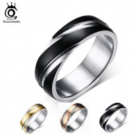 US $2.92 40% OFF|ORSA JEWELS 2019 New Fashion Daily Wear Rings Top Quality Lead & Nickel Free Black Color Stainless Steel Men Party Rings OTR60-in Rings from Jewelry & Accessories on Aliexpress.com | Alibaba Group
