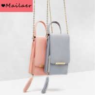 US $10.23 67% OFF|MAILAER 2019 New Ms. Shoulder Bag Messenger Chain Mobile Phone Bag Fashion Tassel Mobile Purse Bag-in Wallets from Luggage & Bags on Aliexpress.com | Alibaba Group