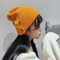 € 4.94 |Mujer de Color sólido de sombrero nuevo botón cálido otoño e invierno de las mujeres sombrero en Gorros y sombreros de Accesorios de ropa en AliExpress.com | Alibaba Group