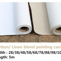 US $19.8 |5m long artist primed linen blend / 100% cotton blank primed painting blank canvas roll for artist-in Painting Canvas from Office & School Supplies on Aliexpress.com | Alibaba Group