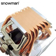 Снеговик 6 тепловых труб кулер ЦП RGB 90 мм ШИМ 4Pin ПК тихий для Intel LGA 775 1150 1151 1155 1366 AMD AM2 AM3 AM4 охлаждающий вентилятор ЦП